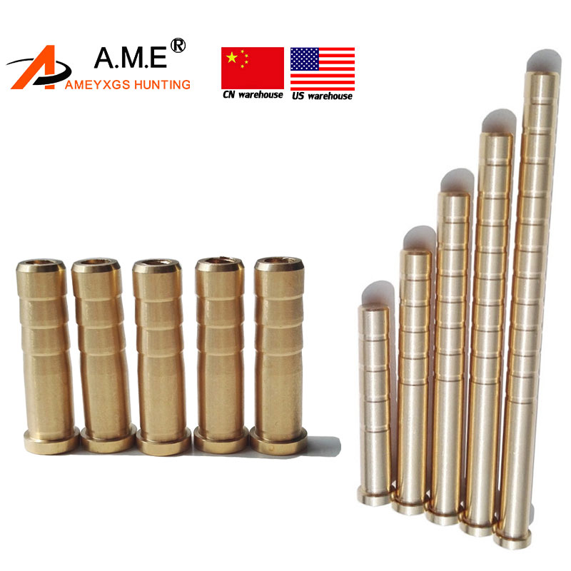 12pcs 25//50//100gr Copper Weight Screw-in Arrow Balance Archery Accessory Hunting