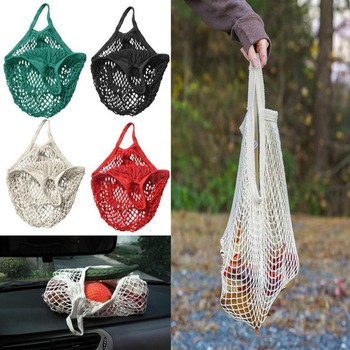 Reusable Mesh Net Woven Cotton Bag