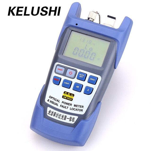 Kelushi tudo em um medidor de potência óptica de fibra 70 a + 10dbm 1mw 5km testador de cabo/localizador visual de falhas/testador de cabo ftth