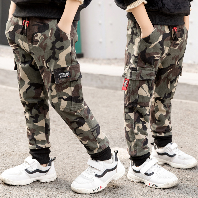 Boys Winter Pants Size 2 4 6 8 10 to 12 Years Camouflage Print Boys Pocket New Add Wool Trousers for Boys Winter Clothes 5L02 durable dabbling camouflage trousers size l
