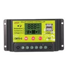 20A 12 V/24 V PWM Solar Laadregelaar met Lcd scherm Auto Regulator Zonnepaneel Batterij Lamp Overbelasting bescherming
