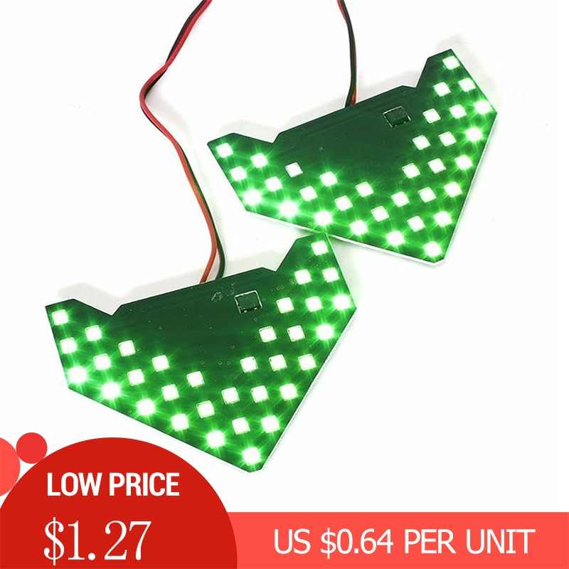 2PCS/Set 33/14 SMD LED Arrow Panels Car Side Mirror Turn Signal Indicator Sequential 5 colors Flash Light Lamp G