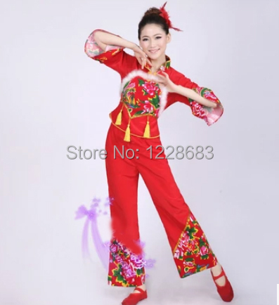 Discount Women Girls Vestido Tradicional Chino Chinese Fan Dance Costumes Ancient Chinese Costumes