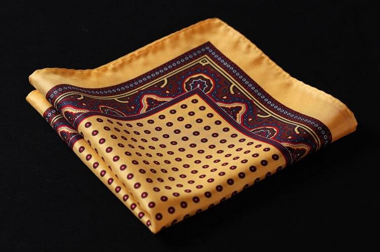 HN28Y Polka Dot Handkerchief 100% Natural Silk Satin Mens Hanky Fashion Classic Wedding Party Pocket Square