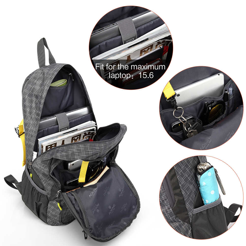 Aoking Individual Daily Backpack Strong Work Bags With Adjustable Chest Buckle And Reflective Strip Convenient For Travelling