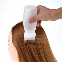 пустые волосы бутылка для краски с аппликатором кисточки дозирования салон окрашивание волос бутылочки парикмахерские инструмент для укладки волос 120 мл