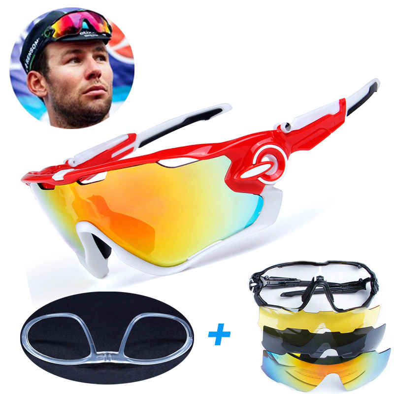 4 Lens TR90 Outdoor Sports Cycling Sunglasses Men Women Bike Bicycle Cycling Eyewear Glasses With Myopia Frame