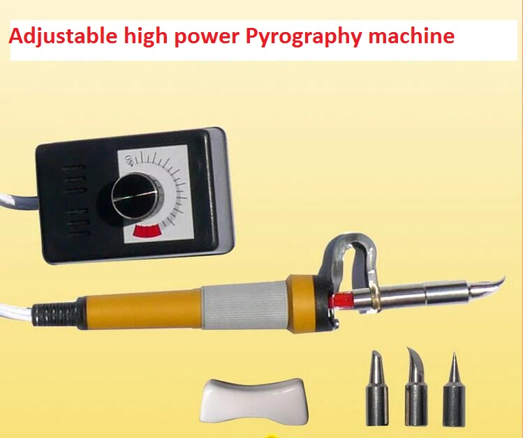 Adjustable 80W Mini Pyrography toolkit Multifunction Pyrography machine pen +3pcs solder tips quicktime toolkit volume one