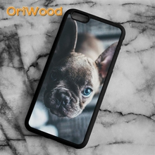 OriWood French Bull Dog Blue Eyes Cute Puppy Case cover For iPhone 6 6S 7 8 Plus X 5 5S SE Samsung galaxy S5 S6 S7 edge S8 Plus(China)