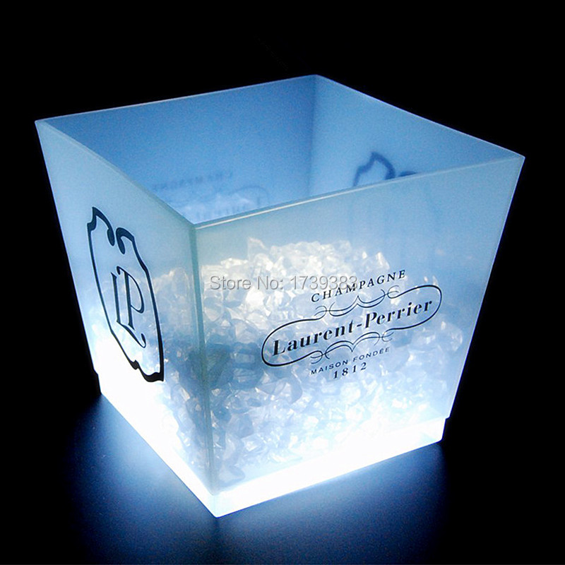 large capacity 12L cube rechargeable led ice bucket 7