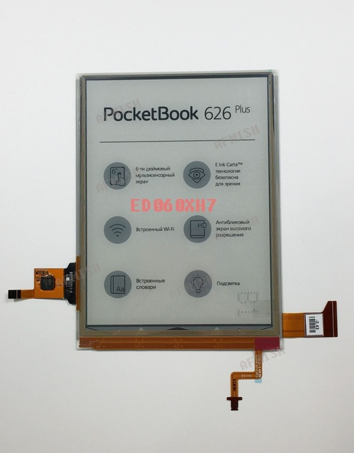ED060XH7 eink 100% nueva pantalla LCD de pantalla para pocketbook 626 plus y touch de bolsillo lux 3 envío gratis
