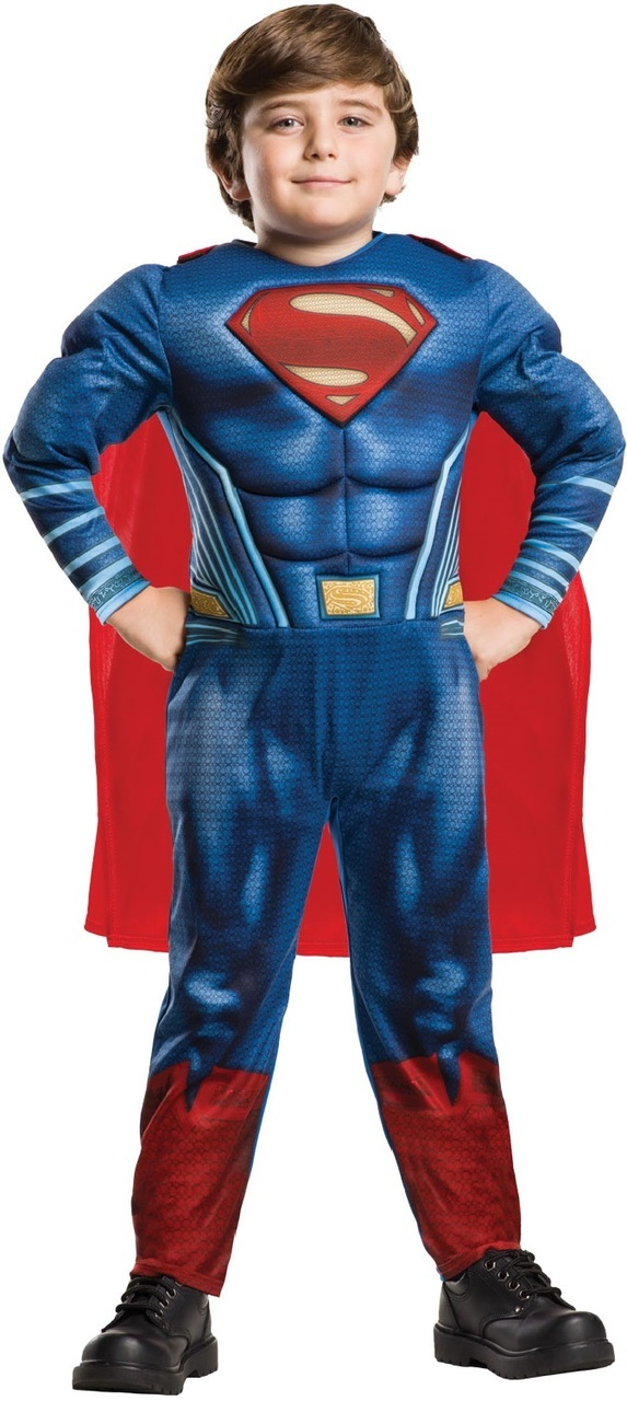 Deluxe Costume 2018 High Quality Children mucle Superman Cosplay Clothing Halloween Costume For Kids