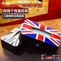 Carro union jack pu caixa de tecido de couro para mini cooper s R50 R52 R53 R56 R60 R61 F55 F56 etc