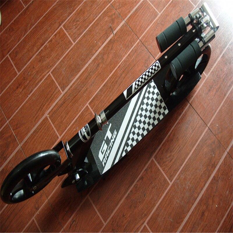 Ados adulte pli coup de pied Scooter ville urbain banlieue pousser Scooter hauteur réglable 200mm roues en polyuréthane garde-boue arrière frein arrière - 5
