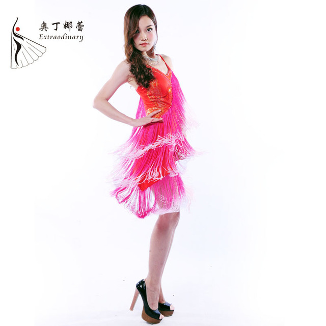 a8764e36c092 Latin Dance Dress Professional Latin Outfit Samba Dance Latin Salsa Dresses  Women Dance Costumes Clothes for