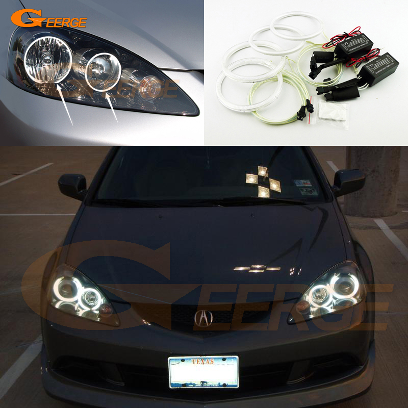 все цены на  For Acura RSX 2005 2006 Excellent angel eyes Ultra bright illumination CCFL Angel Eyes Halo Ring kit  онлайн
