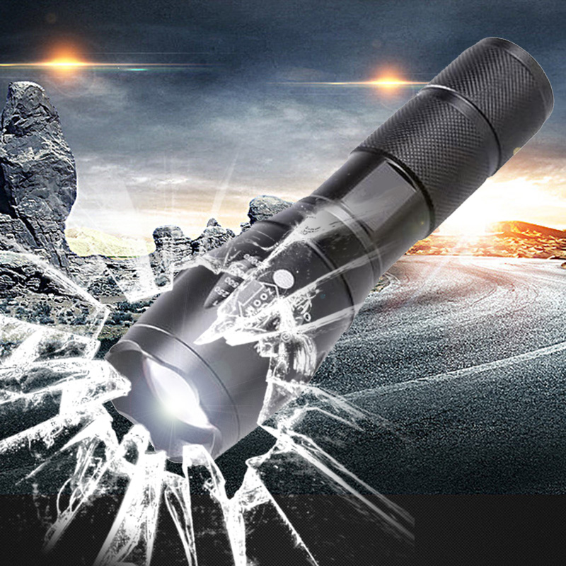 z20A100 Portable LED Flashlight LED Torch Zoomable Flashlight 4000LM XM-L T6 LED 5 Mode Light For 18650 or 3xAAA Battery