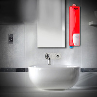 GZU HY30 - 07 3000W Instant Electric Indoor Tankless Water Heater for Kitchen Bathroom Wall Mounting Instant Heating EU Plug