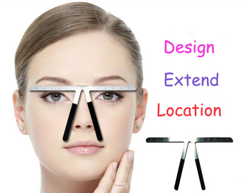 1pc Metal Tattoo Eyebrow Ruler Permanent Makeup Three-Point Position Measure Stencil Grooming Shape tools Balance Ruler