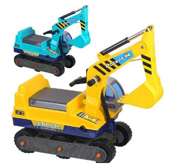 Hot Ride On Excavator 6-Wheel Scooter Children Baby Kids Toy Diggers Construction Vehicles