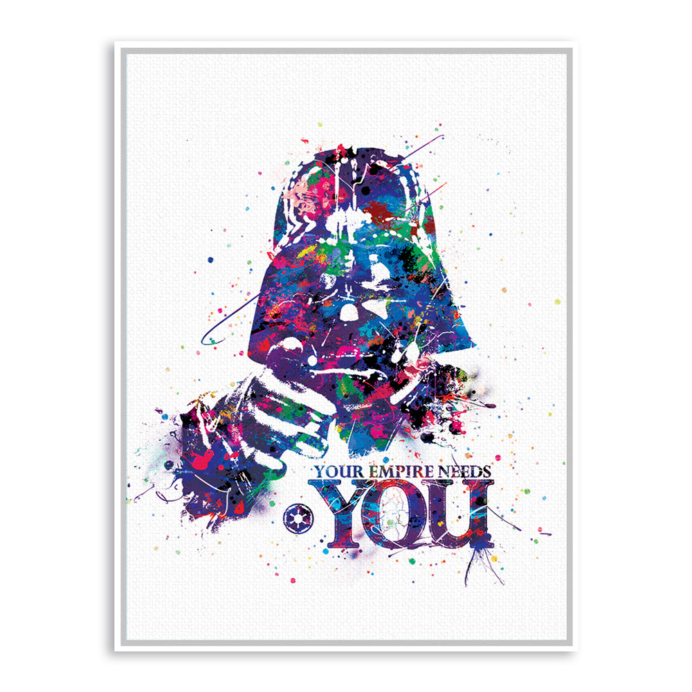 Original Watercolor Star Wars Darth Vader Mask Pop Movie