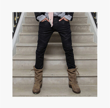 Free Shipping !!! 2015 New Brand Catwalk Models Zipper Decorative Eagle Heavy Motorcycle Slim Jeans / 28-36