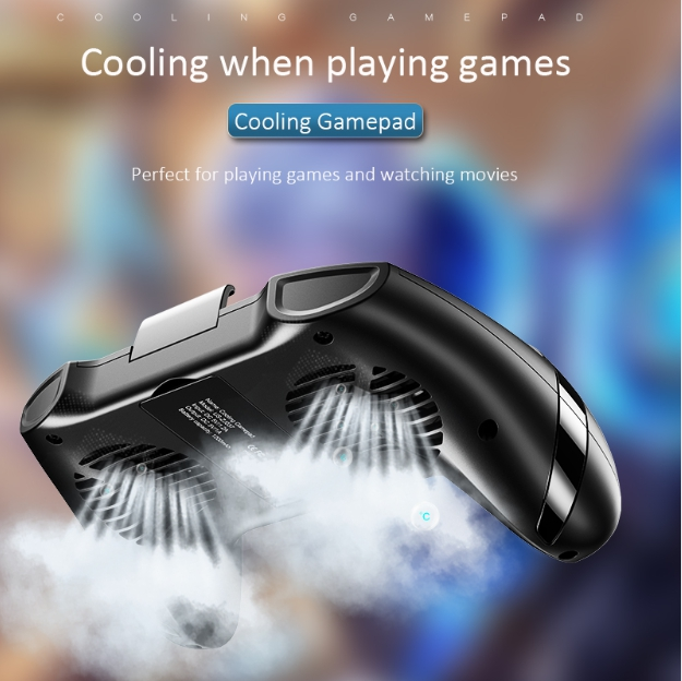 USAMS Brand Universal Cooling Gamepad Mobile Phone Game Cooling Handle Phone Holder Dual Fans Heat Dissipate Noise-ReductionUSAMS Brand Universal Cooling Gamepad Mobile Phone Game Cooling Handle Phone Holder Dual Fans Heat Dissipate Noise-Reduction