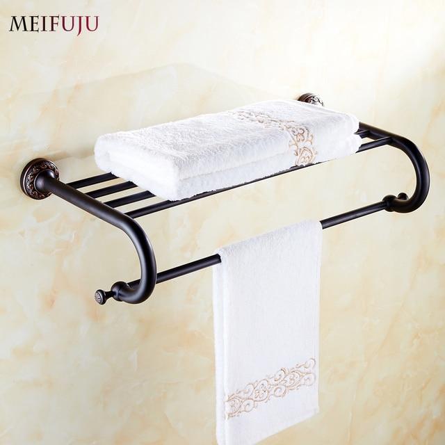 High Quality Bathroom Towel Holder shelf Copper hotel fixed bath ...
