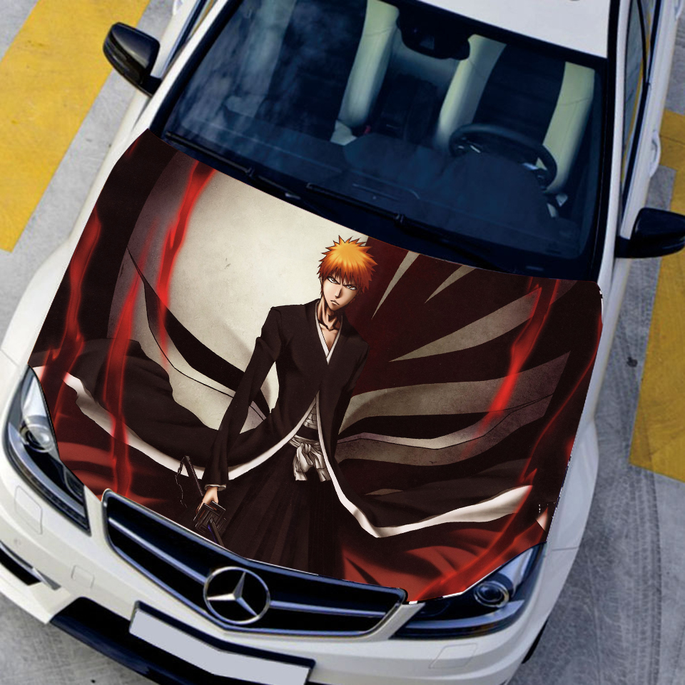 Car Styling Stickers Waterproof PVC Paper Funny Decal Belle Samolepky DEATH Kurosaki ichigo Hood Sticker Camouflage Vinyl Film car styling japanese anime stickers oshino shinobu vinyl sticker decals auto body racing decal acgn car hood paint film