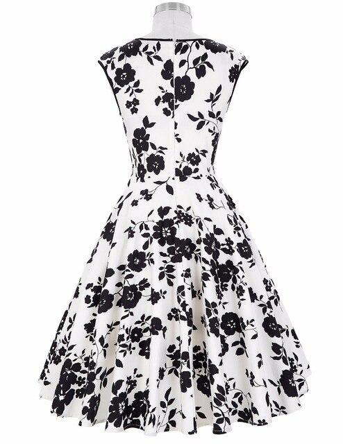 Women winter dress 2017 v-neck flower polka dots pattern cotton retro vintage party picnic dress  floral short 60s 50s dresses