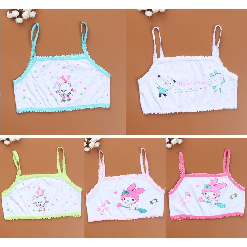 Soft comfortable New Girl Cartoon Printing Underwaist Teenage Young Girl Training Children Underwear