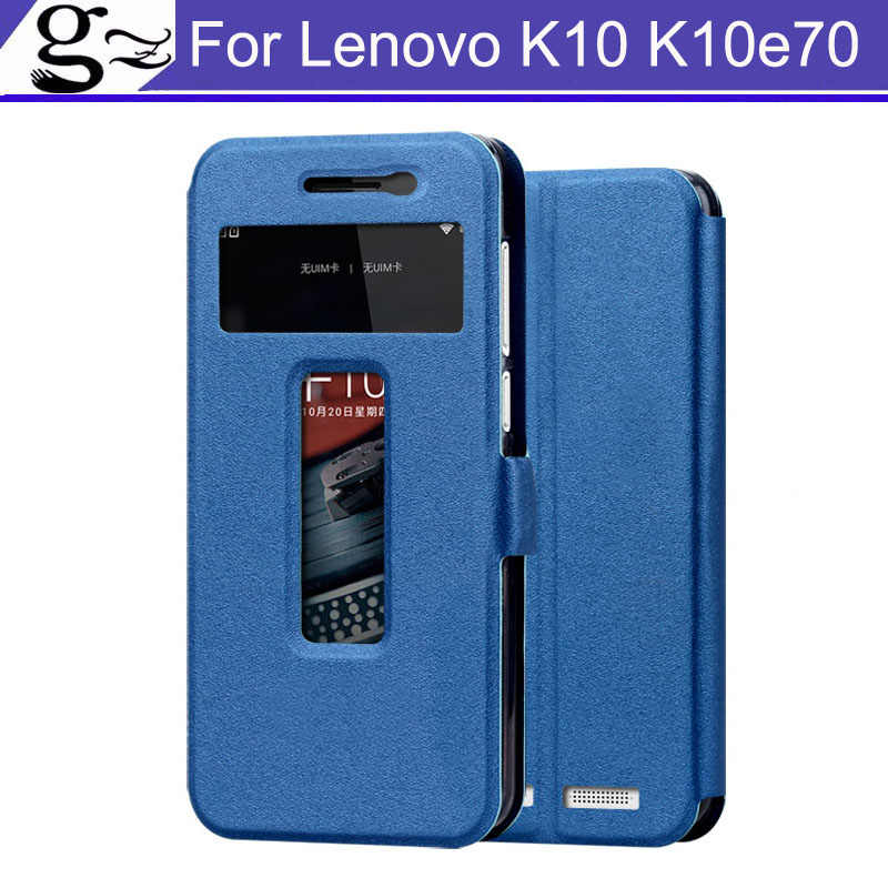 For Lenovo K10 K 10 K10e70 Case  Flip Cover Open Window PU Leather Case Cover Phone Case Coque For Lenovo K10 K10e70 Shell