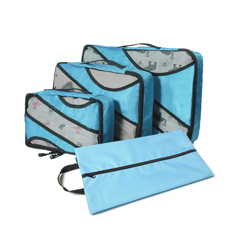 Nylon Foldable Men 39 s Female Travel Bag Organizer Hand Luggage Large Capacity Travel Bag Set Packing Cube Waterproof in Travel Bags from Luggage amp Bags