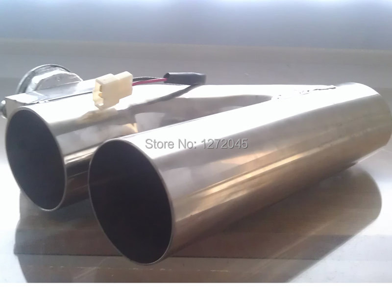 US $52 3 |universal 2 5 inch exhaust pipe stainless steel electric Y pipe  Exhaust Electrical Cutout with Remote Control wholesale valve-in Mufflers