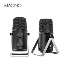 MAONO USB Microfone Condensador Cardióide Microfone Echo Padrão de Controle De Volume do Microfone Ajustável para Youtube Jogo Do Podcast