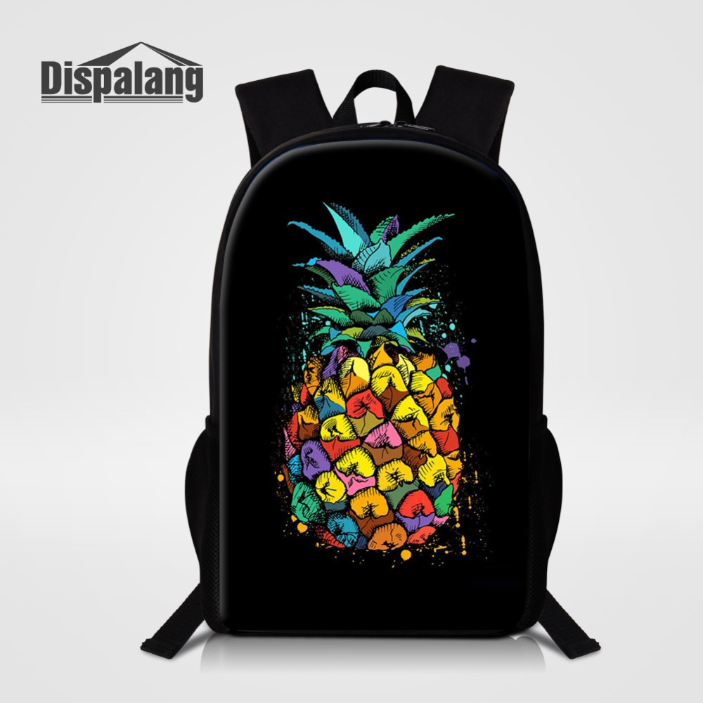 Pineapple Fruit Printed School Bags For Girls New Fashion Polyester Backpack For Children 16 Inch Large Capacity Shoulder Rugtas tote bag