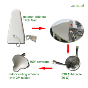 Image 3 - 2g 3g 4g wzmacniacz sygnału komórkowego Tir Band 900 1800 2100 mhz wzmacniacz sygnału komórkowego z wyświetlaczem LCD