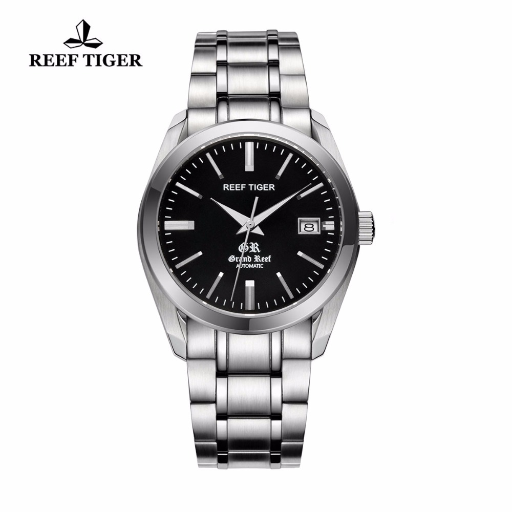 Reef Tiger/RT Top Brand Dress Watches for Men Stainless Steel Waterproof Watch as Gift Automatic Watch RGA818 yn e3 rt ttl radio trigger speedlite transmitter as st e3 rt for canon 600ex rt new arrival