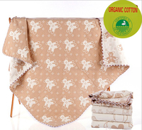 5 Layers Organic Cotton Baby Blanket Newborn Soft Baby Quilt For Crib Stroller Car Aircraft 100cmX100cm