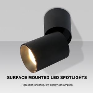 Image 3 - Hartisan 7w pode ser escurecido led downlight led dobrável montado spotlight 360 graus de rotação do teto fundo da lâmpada parede iluminação da sala