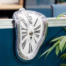 小説歪ん融解壁時計モダンなデザインサイレント電子針時計壁時計家の装飾クリスマスギフト壁時計