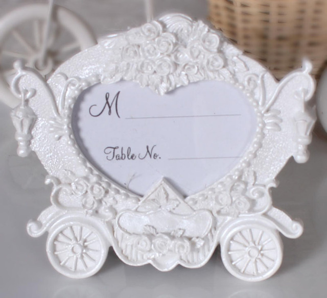 Wedding Favors Creative Gifts Resin White Pumpkin Carriage Photo Frame  Place Card Picture Holder Table Decoration ZA3049-in Party DIY Decorations  from ...