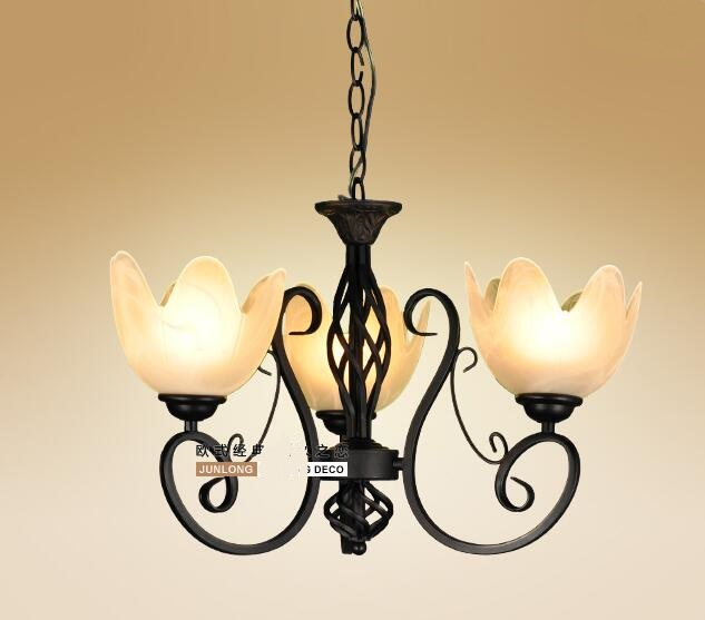 Multiple Chandelier wrought iron 3 head droplight/bedroom chandeliers light bedroom ZX73