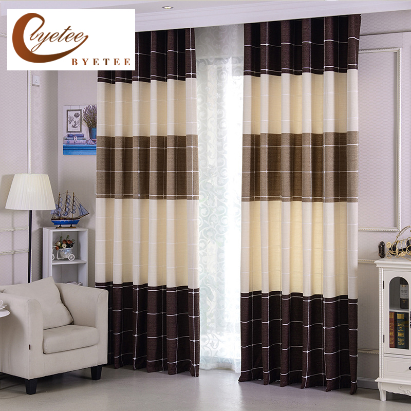 {byetee} Window Blackout Curtain Bedroom Modern Bedroom Striped Drapes Kitchen Cortina Curtains Doors Fabrics For Living Room