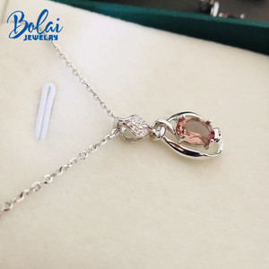 Image 5 - Bolai Color Changing Nano Diaspore Leaf Pendant Necklace Genuine 925 Sterling Silver Stone Fine Jewelry For Women Girls Gift