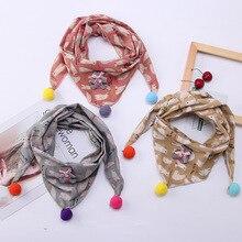 Шарф для маленьких девочек и мальчиков, мягкие треугольные шарфы с рисунком из мультфильма, хлопковый нагрудник, детская зимняя и Весенняя теплая шаль, косынка, Рождественский подарок