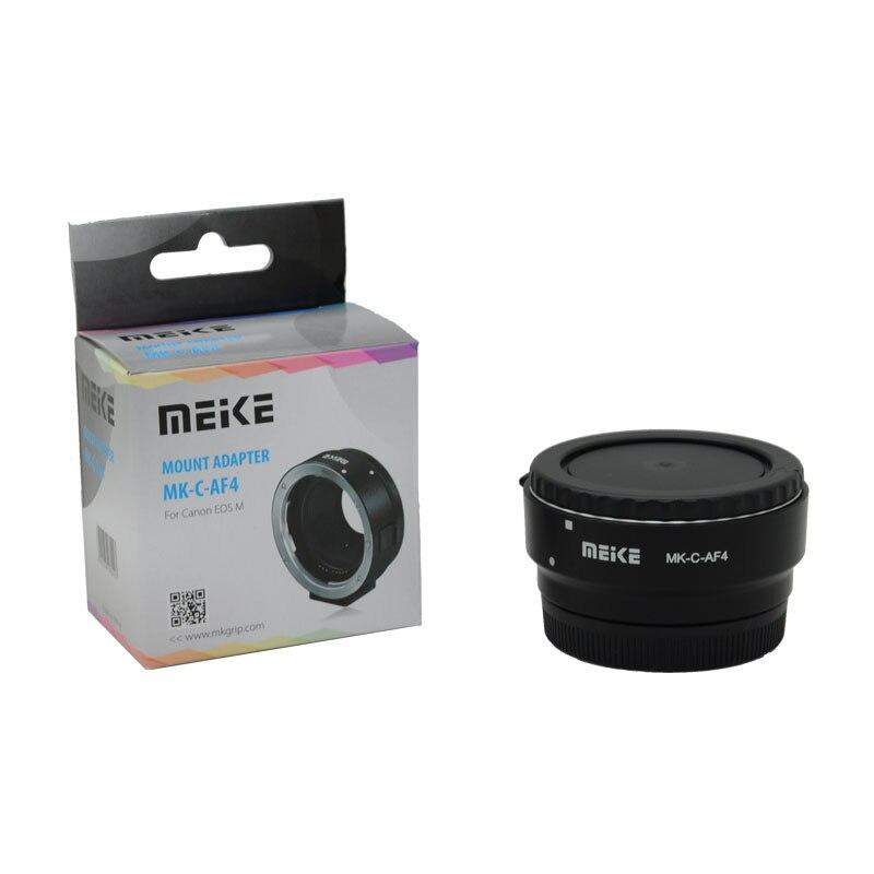Adaptador de Foco Eletrônico para Canon Lente para Eos Meike Automático Ef-s m Ef-m Montagem Mk-c-af4 ef