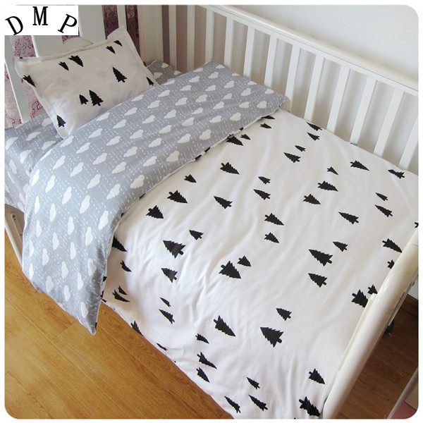 Promotion! 3PCS Cartoon Infant Baby Crib Bedding Set Baby Nursery Bedding Sets Cartoon ,Duvet Cover/Sheet/Pillow Cover, muslinlife 3pcs set baby crib bedding set nursery bedding set pillow case bed sheet duvet cover suit crib size within 130 70cm