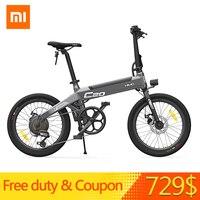 [Ücretsiz Görev] Xiaomi HIMO C20 Katlanabilir Elektrikli Moped Bisiklet 250 W Motor 25 km/saat Gizli şişirme pompası Shimano değişken hız sürücüsü