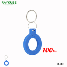 RAYKUBE R-IK3 New Keyfob 100Pcs/Lot 125Khz RFID Proximity Keyfobs For Door Access System